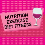 Text sign showing Nutrition Exercise Diet Fitness. Conceptual photo Healthy Lifestyle Weight loss analysisagement.  vector illustration