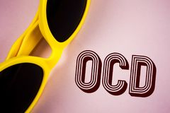 Text sign showing Ocd. Conceptual photo Obsessive Compulsive Disorder Psychological Illness Medical Condition written on Plain Pin. Text sign showing Ocd Stock Images