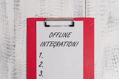 Text sign showing Offline Integration. Conceptual photo First Triad of Marketing Television Print and Outdoor Colored. Text sign showing Offline Integration royalty free stock photography