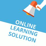 Text sign showing Online Learning Solution stock illustration