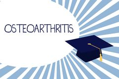 Text sign showing Osteoarthritis. Conceptual photo Degeneration of joint cartilage and the underlying bone.  royalty free illustration