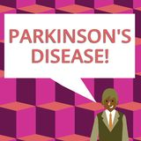 Text sign showing Parkinson S Is Disease. Conceptual photo nervous system disorder that affects movement Businessman. Text sign showing Parkinson S Is Disease stock illustration
