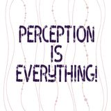 Text sign showing Perception Is Everything. Conceptual photo how we identify failure or defeat makes difference Vertical. Curved String Free Flow with Beads vector illustration