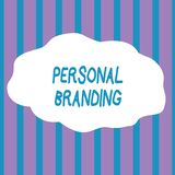 Text sign showing Personal Branding. Conceptual photo Practice of People Marketing themselves Image as Brands Seamless. Text sign showing Personal Branding royalty free illustration