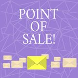 Text sign showing Point Of Sale. Conceptual photo Method for doing payments with debit or credit cards. Text sign showing Point Of Sale. Conceptual photo Method royalty free illustration