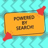 Text sign showing Powered By Search. Conceptual photo Get results other marketers can t with specific websites Two