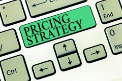 Text sign showing Pricing Strategy. Conceptual photo set maximize profitability for unit sold or market overall.  royalty free stock photos