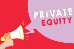 Text sign showing Private Equity. Conceptual photo Capital that is not listed on a public exchange Investments.  stock illustration