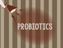 Text sign showing Probiotics. Conceptual photo Live bacteria Microorganism hosted into the body for its benefits vector illustration
