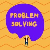 Text sign showing Problem Solving. Conceptual photo process of finding solutions to difficult or complex issues Male vector illustration