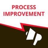 Text sign showing Process Improvement stock illustration