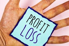 Text sign showing Profit Loss. Conceptual photos Financial year end account contains total revenues and expenses. Text sign showing Profit Loss. Conceptual photo stock images