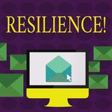 Text sign showing Resilience. Conceptual photo Capacity to recover quickly from difficulties Persistence. Text sign showing Resilience. Conceptual photo royalty free illustration