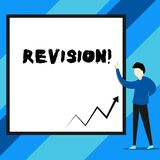 Text sign showing Revision. Conceptual photo action of revising over someone like auditing or accounting. royalty free illustration