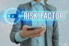 Text sign showing Risk Factor. Conceptual photo Characteristic that may increase the percentage of acquiring a disease
