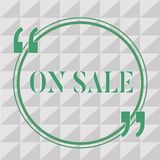 Text sign showing On Sale. Conceptual photo Opportunity buy something cheaper Discount ready to be purchased.  royalty free illustration