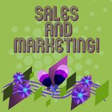 Text sign showing Sales And Marketing. Conceptual photo activities for selling and advertising products Colorful vector illustration