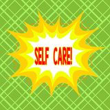 Text sign showing Self Care. Conceptual photo practice of taking action to preserve or improve ones own health