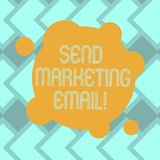 Text sign showing Send Marketing Email. Conceptual photo targeting of consumers through electronic mail Blank Deformed. Color Round Shape with Small Circles stock illustration