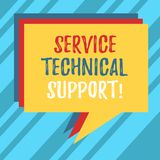Text sign showing Service Technical Support. Conceptual photo services that entities provide to users of product Stack of Speech vector illustration