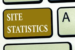 Text sign showing Site Statistics. Conceptual photo measurement of behavior of visitors to certain website.  royalty free illustration