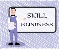 Text sign showing Skill Business. Conceptual photo Ability to handle business venture Intellectual expertise.  Royalty Free Illustration