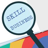 Text sign showing Skill Business. Conceptual photo Ability to handle business venture Intellectual expertise.  vector illustration
