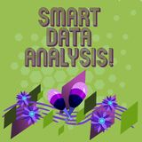 Text sign showing Smart Data Analysis. Conceptual photo collecting and analyzing infos to make better decisions Colorful stock illustration