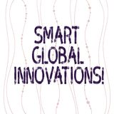 Text sign showing Smart Global Innovations. Conceptual photo capability of firms to create new opportunities Vertical. Curved String Free Flow with Beads vector illustration