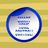 Text sign showing Smart Home Control. Conceptual photo provides owners security comfort and energy efficiency Bottle Packaging stock illustration