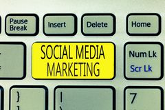 Text sign showing Social Media Marketing. Conceptual photo use of Website and Network to promote Product Service.  royalty free stock images