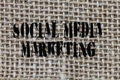 Text sign showing Social Media Marketing. Conceptual photo use of Website and Network to promote Product Service.  stock images