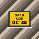 Text sign showing Super Star Only You. Conceptual photo Different unique the most brilliant demonstrating successful vector illustration