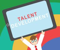Text sign showing Talent Development. Conceptual photo Building Skills Abilities Improving Potential Leader.  royalty free illustration