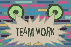 Text sign showing Team Work. Conceptual photo Combined action of a group Workgroup cooperation collaboration.  royalty free stock image