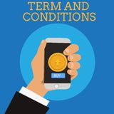 Text sign showing Term And Conditions. Conceptual photo Policies and Rules where one must Agree to Abide.  vector illustration