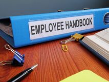 Free Text Sign Showing The Printed Words Employee Handbook Royalty Free Stock Photo - 172107795