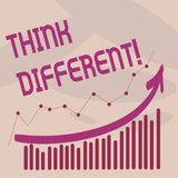 Text sign showing Think Different. Conceptual photo Rethink Change on vision Acquire New Ideas Innovate. Text sign showing Think Different. Conceptual photo royalty free illustration