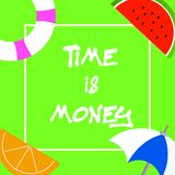 Text sign showing Time Is Money. Conceptual photo Better to do things as quickly as possible Do not delay.  vector illustration