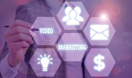 Text sign showing Video Marketing. Conceptual photo integrates engaging video into the marketing campaigns