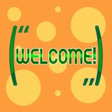 Text sign showing Welcome. Conceptual photo Warm salutation acknowledgement for someone amiable loved thanked Different. Text sign showing Welcome. Business vector illustration
