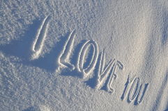 Text on snow Royalty Free Stock Image