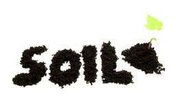 Text soil Stock Photography