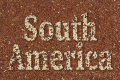 Text South America Stock Image