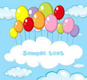 Text space with balloons in sky. Illustration Royalty Free Stock Photos