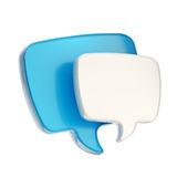 Text speech bubble icon isolated Stock Images