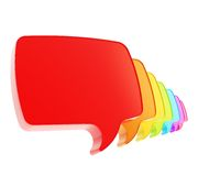 Text speech bubbles in a queue line isolated Royalty Free Stock Image