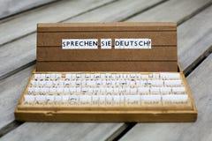 Text: Sprechen Sie Deutsch? Stockfotografie
