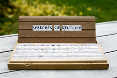 Text: Sprechen Sie Deutsch? Stockfotos