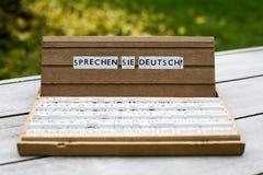 Text: Sprechen Sie Deutsch? Stock Photos